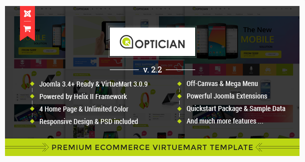 Vina Optician - Premium eCommerce Joomla Template