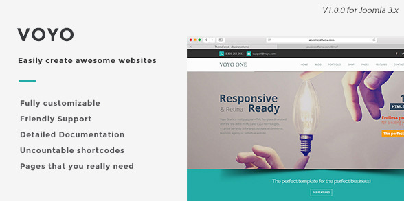 Voyo - Multipurpose Joomla Template