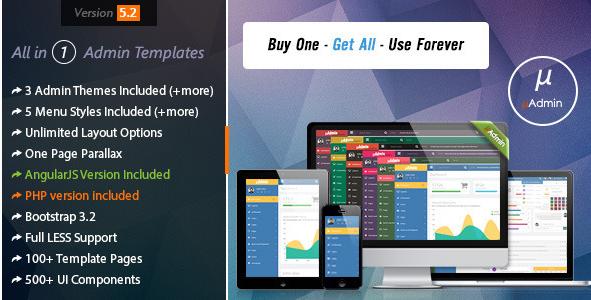 mAdmin - Multi Style AngularJS Admin + Frontend
