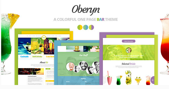 Oberyn - A Colorful One Page Bar Theme