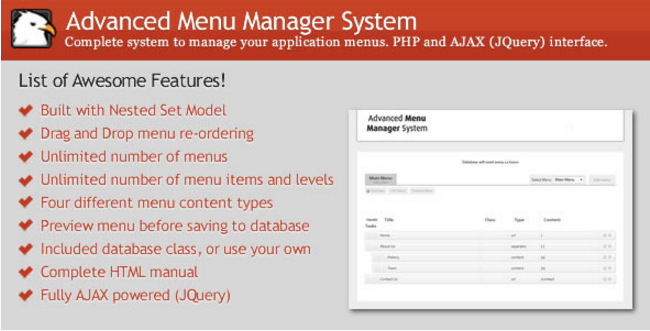 Advanced Menu Manager System