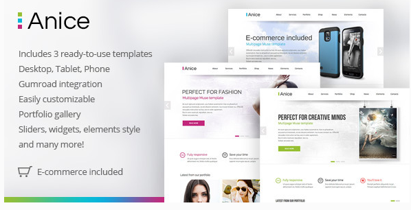Anice - Multipurpose Muse template with eCommerce