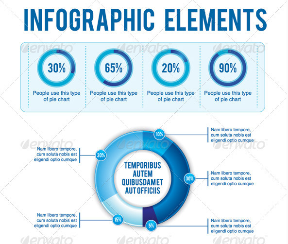 Blue Theme Infographic Element