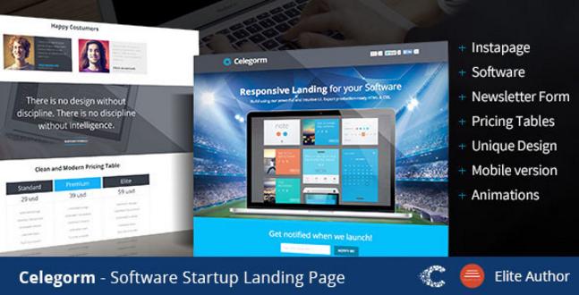 Celegorm Software/App Landing Page