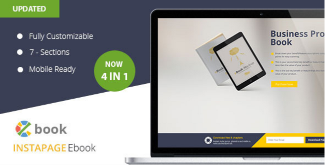 Ebook Instapage Landing Page Template