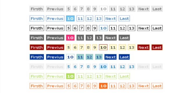 Flexi Pagination Class+ 9 CSS beautiful styles