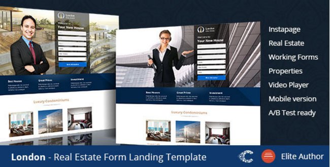 London Real Estate Landing Page