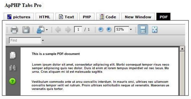 PHP Tabs - Multilevel Tab Menu Control Script