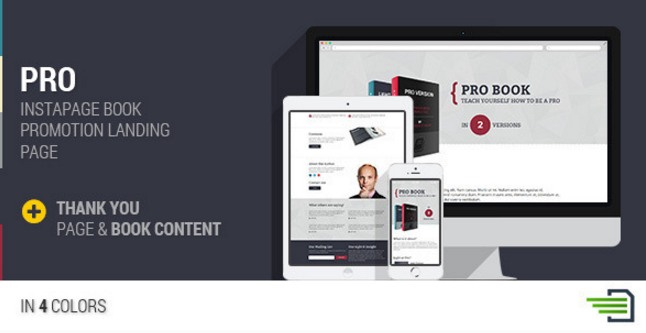 PRO - Instapage Book Landing Page