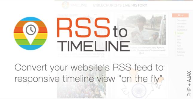 RSS Timeline Responsive Feedreader