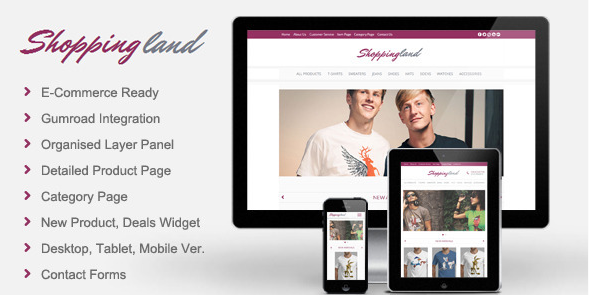 Shoppingland - eCommerce Muse Template