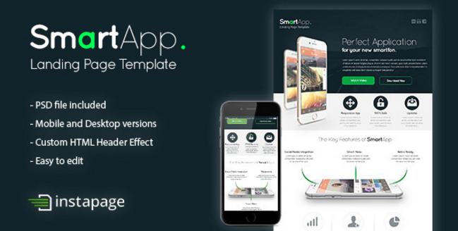 SmartApp - Instapage Landing Page Template