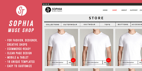 Sophia - Clean Muse Ecommerce