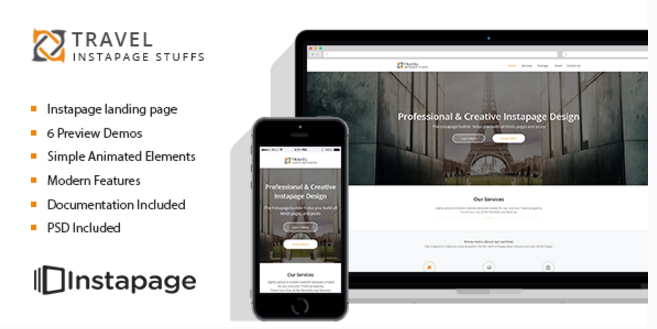 Travel Tour - Instapage Landing Page