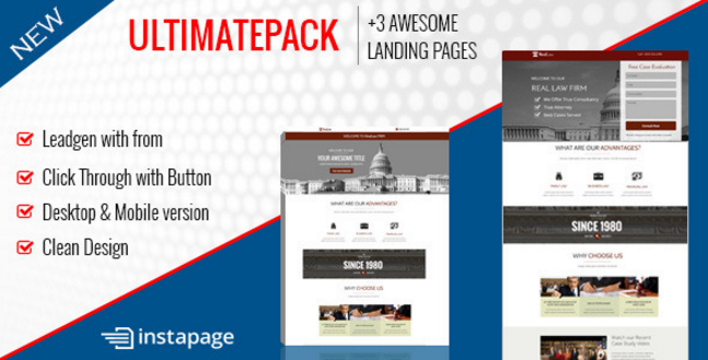 Ultimate Pack - Instapage Landing Pages For Law