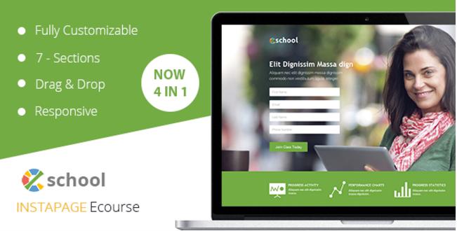 eSchool - Instapage Template