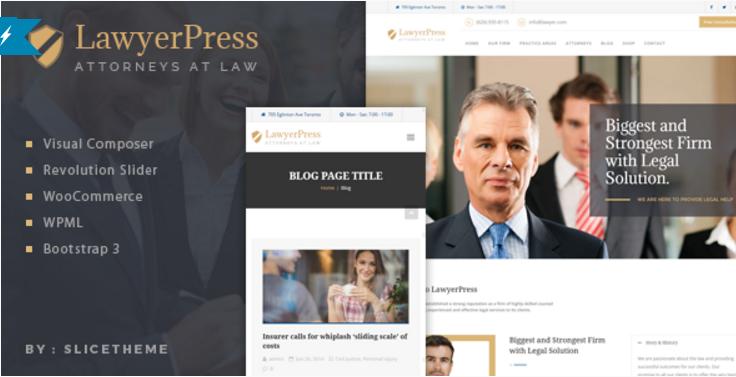 LawyerPress - Lawyers & Attorneys WordPress Theme