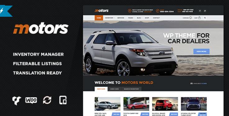 Motors - Car Dealership WordPress Theme