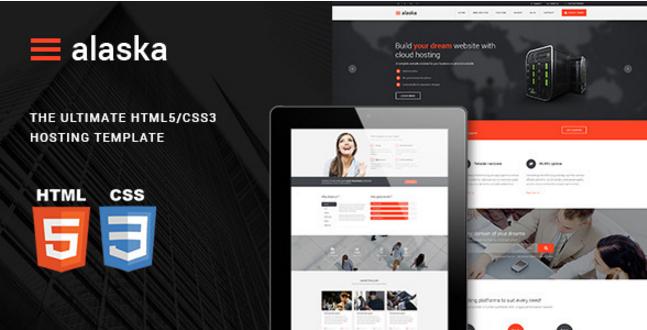 Alaska - Responsive HTML/CSS Hosting Template