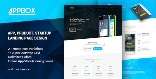 AppBox - App Landing & Shop HTML