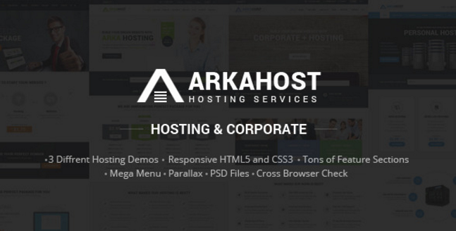Arka Host - Responsive Hosting & Corporate Template