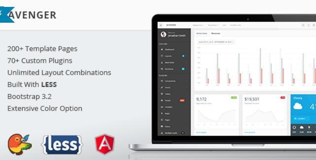 Avenger - Massive Bootstrap 3 Admin Theme (+ AngularJS!)