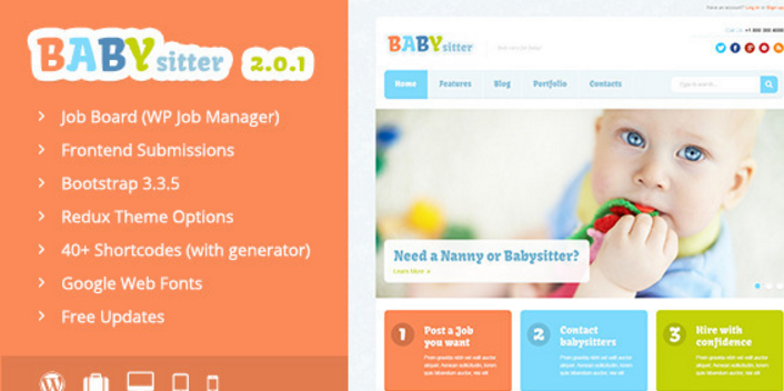 Babysitter - Responsive WordPress Theme