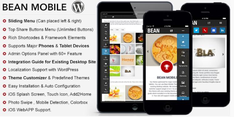 Bean Premium Mobile Theme