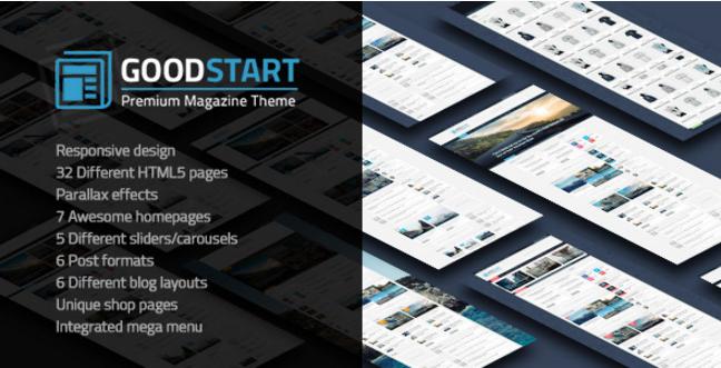 GoodStart - Multipurpose Magazine HTML Template