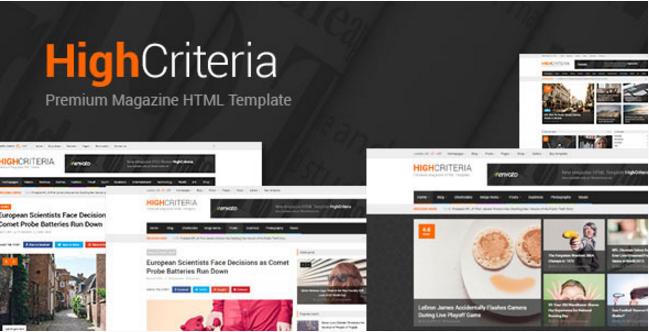 HighCriteria - Clean Multipurpose Magazine HTML