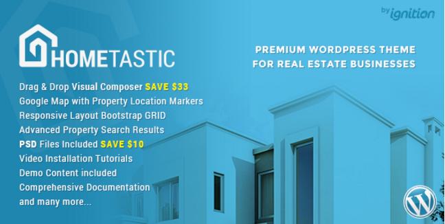Hometastic - Real Estate WordPress Theme
