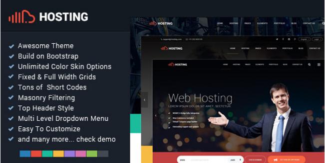Hosting - Bootstrap Responsive Multi-Purpose HTML5