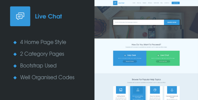 Live Chat - A Responsive Help Desk Support Template