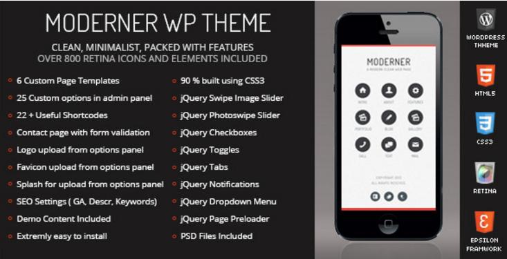 Moderner Mobile Retina | WordPress Version