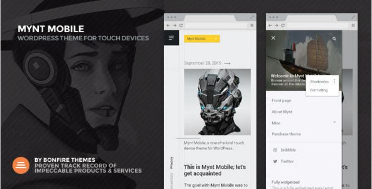 Mynt Mobile - Super Fast Mobile WordPress Theme