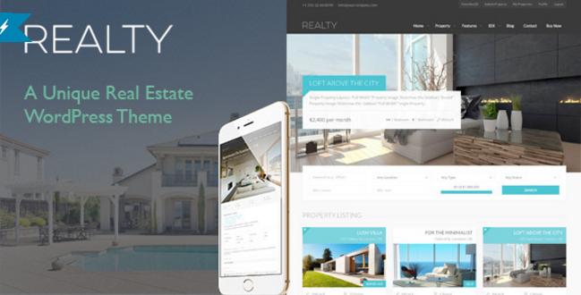 Realty - Unique Real Estate WordPress Theme