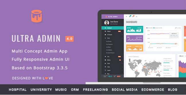 Ultra Admin - Multi Concept Admin Web App with Bootstrap