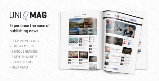 UniqMag - Ease of Publishing News