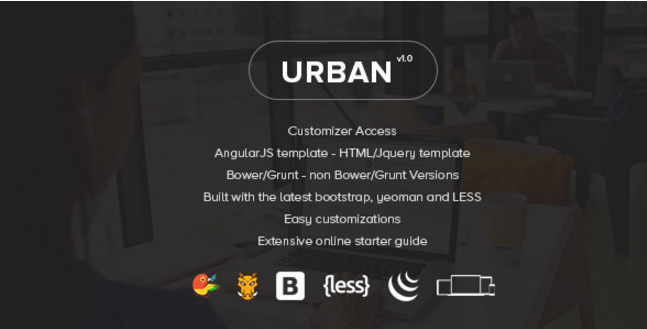 Urban - Responsive Admin Template + Customizer Access