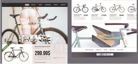 Bikes – eCommerce PSD Template