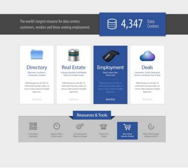 Datacenter Hosting Web Template PSD