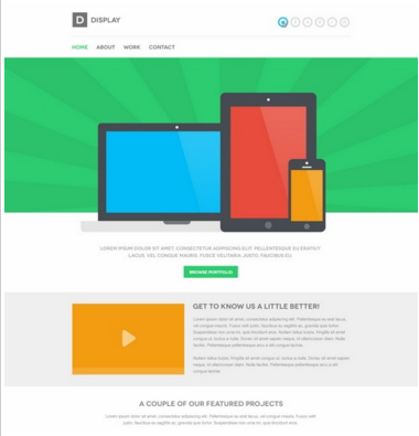 Display PSD Template