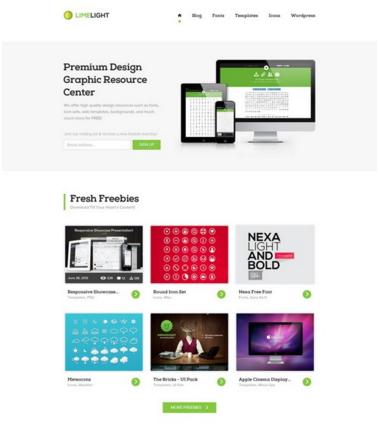Limelight – Free Web Template (PSD)