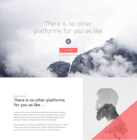 PSD Corporate Landing Page