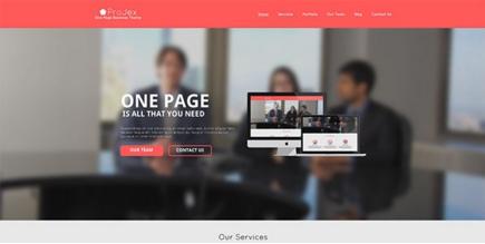 ProJex PSD Website Template