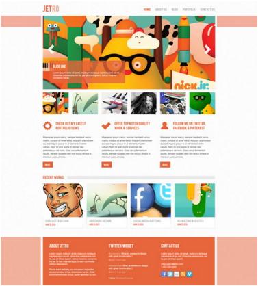 Slick PSD website Theme