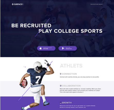 Sports Landing Page