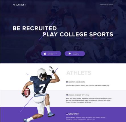 Sports Landing Page