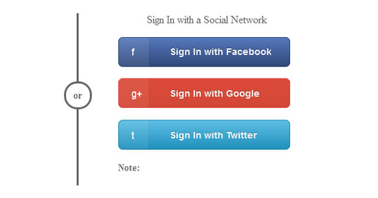 Sign In Button with a Social Network