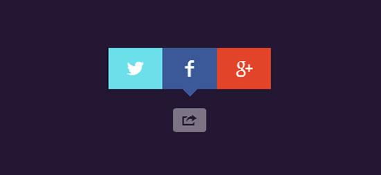 CSS social share button